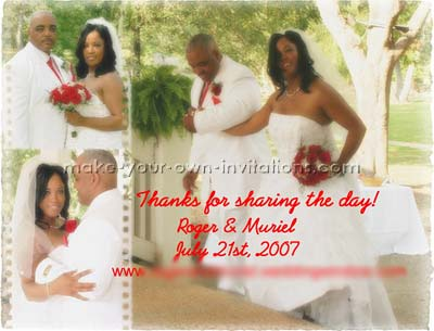 Bulk Wedding   Cards on Wedding Thank You Photo Cards And Samples