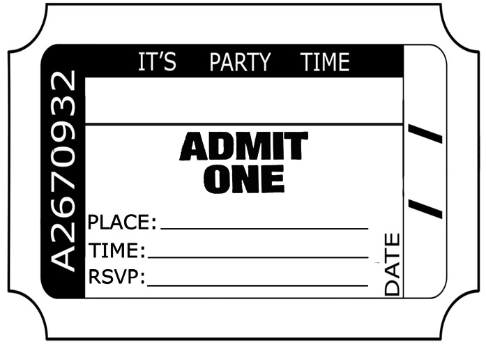 admit one ticket clip art