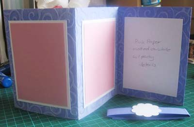 completed purple invitations