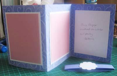 completed purple invitations