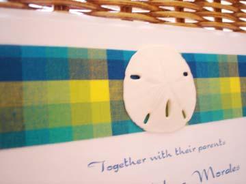 tropical wedding invitations - sand dollar