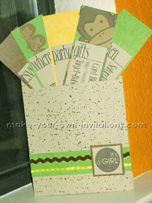 multi card pocket invitations