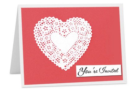 heart valentines invitation card