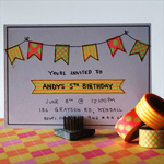 washi tape birthday invitations