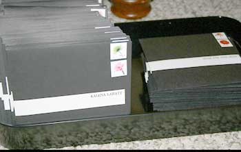 wedding invitations in their envelopes