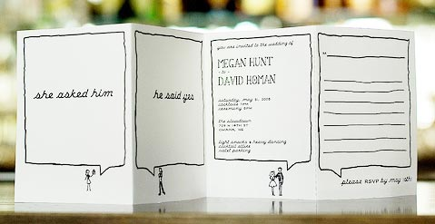 Hand drawn wedding invitation design