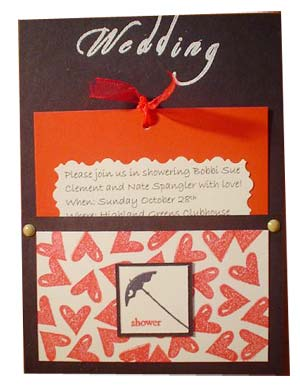 wedding shower invitations - red and black