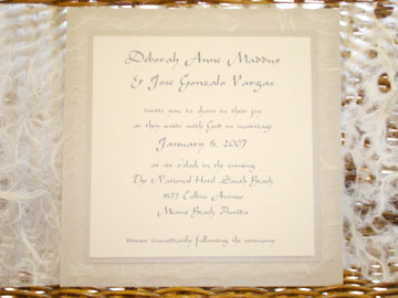 white wedding invitations.