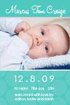 blue birth announcements