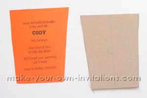 cut out beach invitations