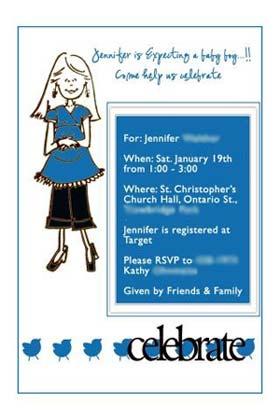 blue babyshower invitations