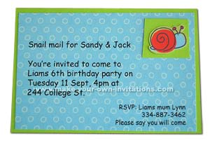 6th birthday invitations for a boy.