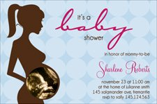Ultrasound invitation for baby showers