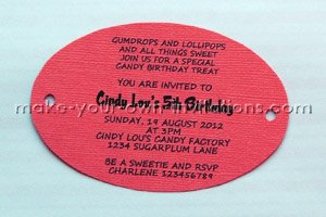 cut out candyland invitations
