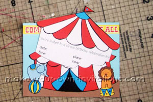 Pintable carnival invitations