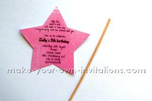 making a fairy princess invitation