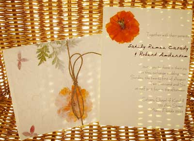 Pressed flowers invitations 2