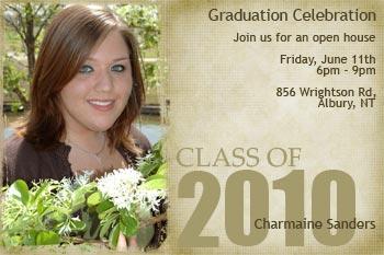 Photo Open House Graduation Invitations