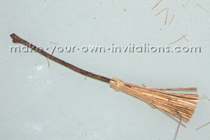 finished broomstick, assembled and trimmed
