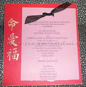 asian japanese wedding invitations