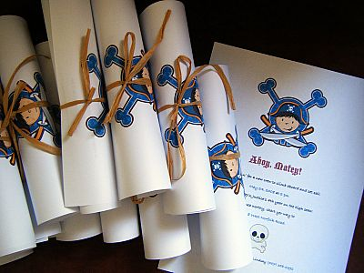pirate birthday party invitations.