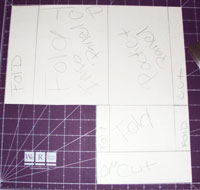 Pocket Fold Invitations - cutting out the excess card