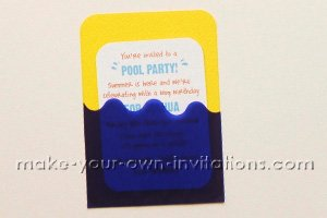 completed pool party invitation