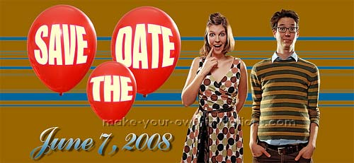 Retro Wedding Save the Dates