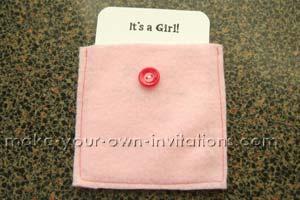 slip the invite insert in to the pocket.