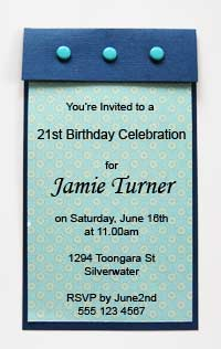 simple invitations finished