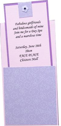 Spa Party Invitations Bridal Invitation Ideas