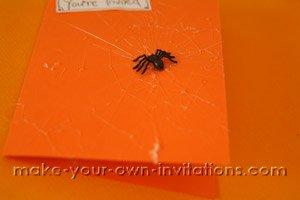 spiders invitation