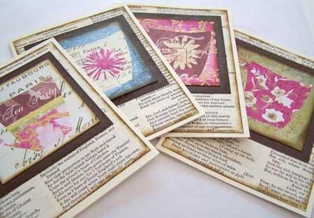 tea note card invitations
