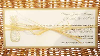 tropical pineapple wedding invitation