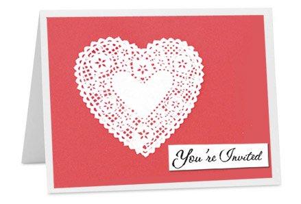 heart valentines invitation card