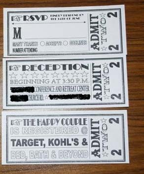ticket rsvp cards